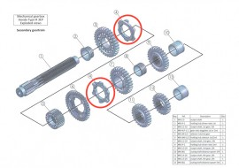 Secondary 4: gear ratio dog plate 1st or 2nd: MB-HLP-1-2