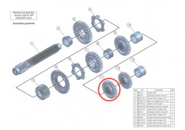 Secondary 11: output shaft 4th gear, 26 teeth: MB-2.4-26