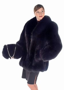 0bcf1565a Black Fox Fur Jacket sold at MAM lluxury shopping at affordable prices